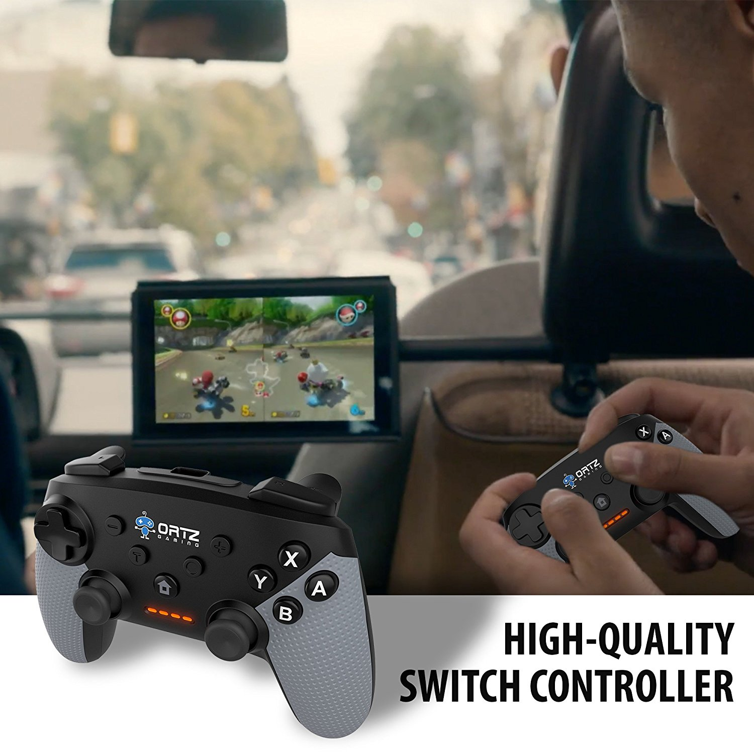 Ortz Wireless Gaming Controller for Nintendo Switch [Free Analog  Replacements] GamePad Remote - Best PC USB Computer, Windows 7 &10, Android