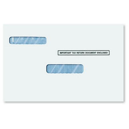 W-2 and 1099 Universal Double Window Envelopes - Moisture (W2 Window)