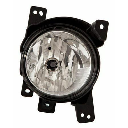 Compatible 2010 - 2012 Hyundai Santa Fe Fog Light Lamp Assembly Replacement Housing / Lens / Cover - Left (Driver) Side 92201-2B500 HY2592137 Replacement For Hyundai Santa