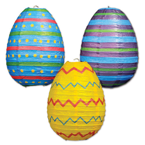 Easter Egg Paper Lanterns, Set of 3
