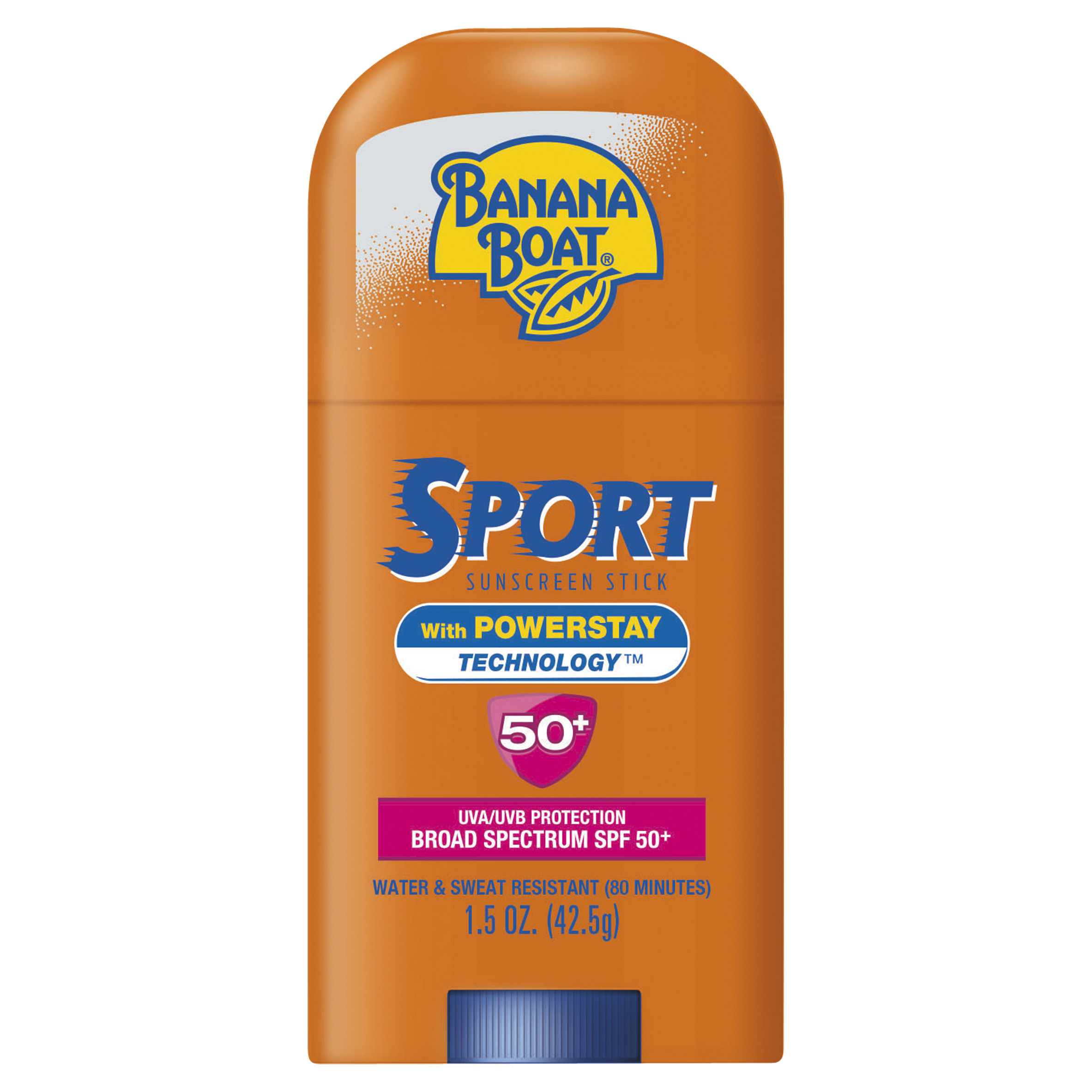 Banana Boat Sport Broad Spectrum Sunscreen Face Stick SPF 50 1.5oz