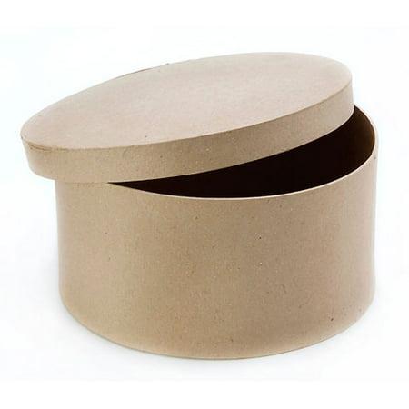 Paper Mache Box - Round - 10 x 5 in