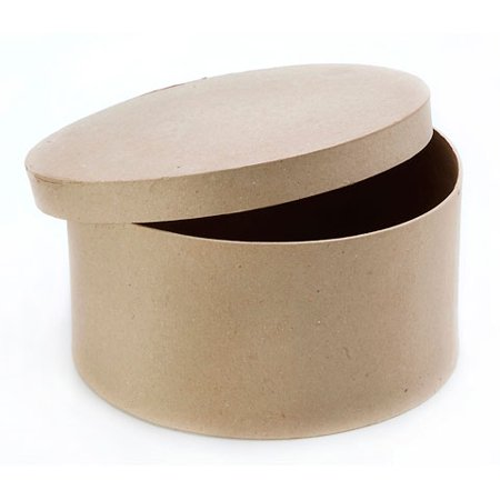 Paper Mache Box - Round - 10 x 5 - Paper Mache Book Box