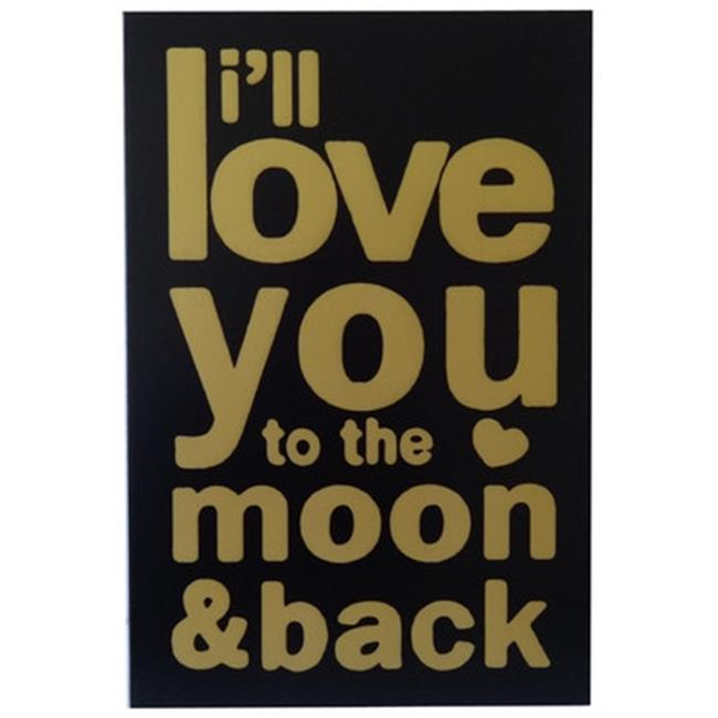 Cheungs FP-4501 I Will Love You Wall Decor, Gold & Black - 23.5 x 1.25 x 15.75 in. - image 1 of 1