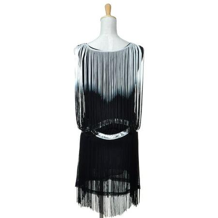 Anna-Kaci - Anna-Kaci Womens 1920s Drop Waist Flapper Mini Cocktail Dress  with Tassel Fringe - Walmart.com 25eb3f4844a4