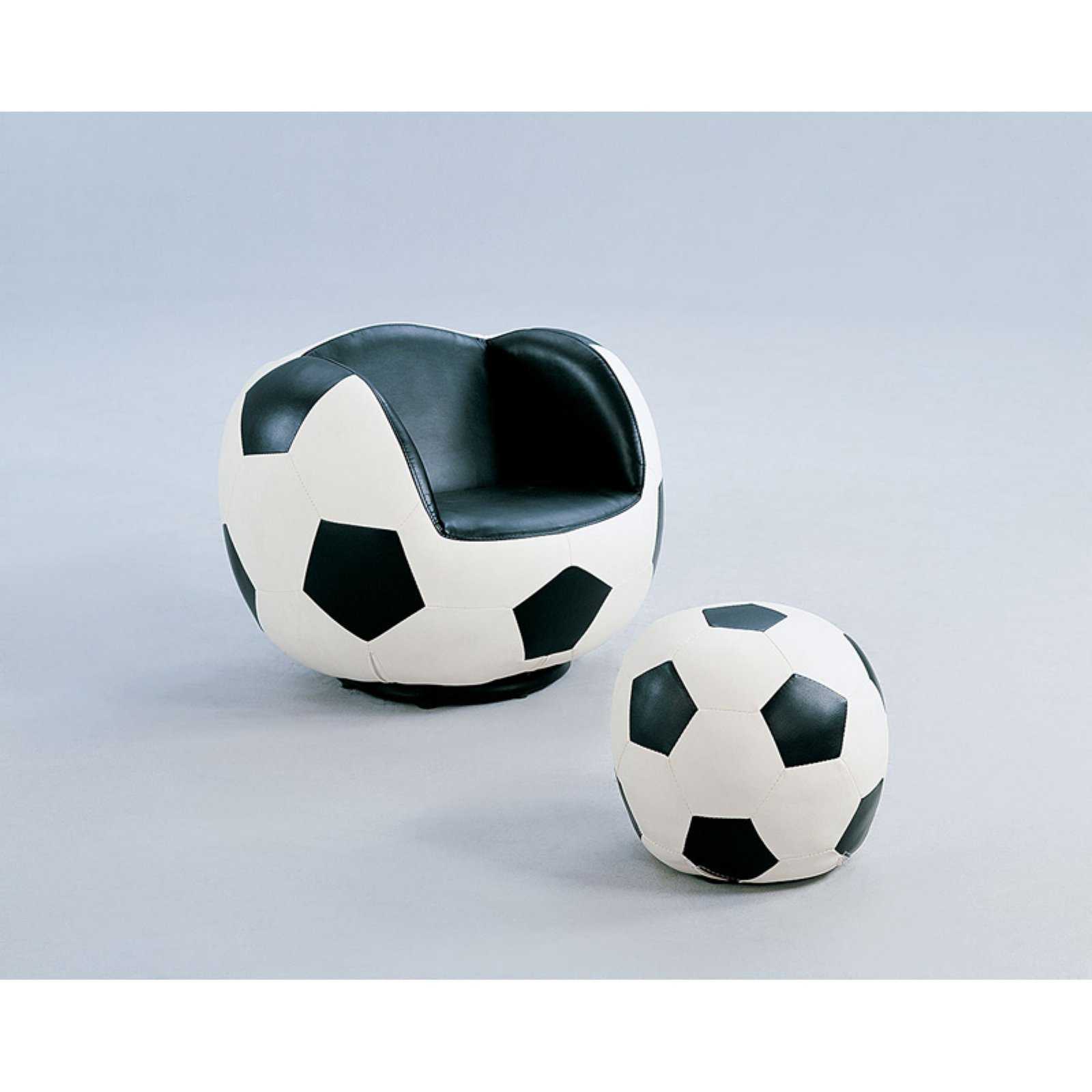 Acme All Star Soccer 2-Piece Chair and Ottoman Set