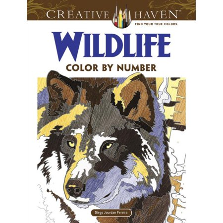 Creative Haven Wildlife Color by Number Coloring Book for $<!---->