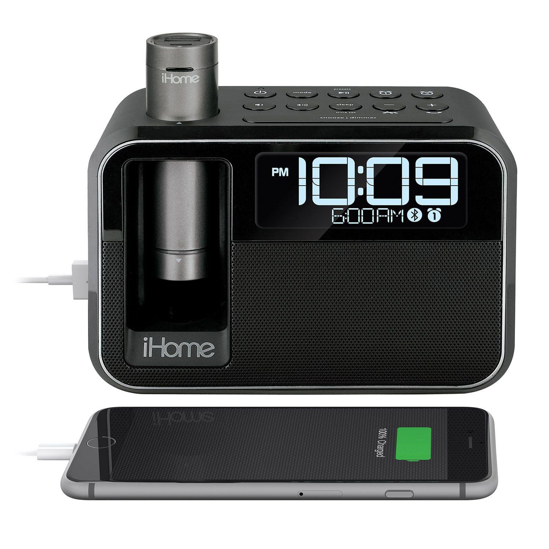 iHome Kineta Dual Charging Alarm Clock Radio with Portable Powerbank