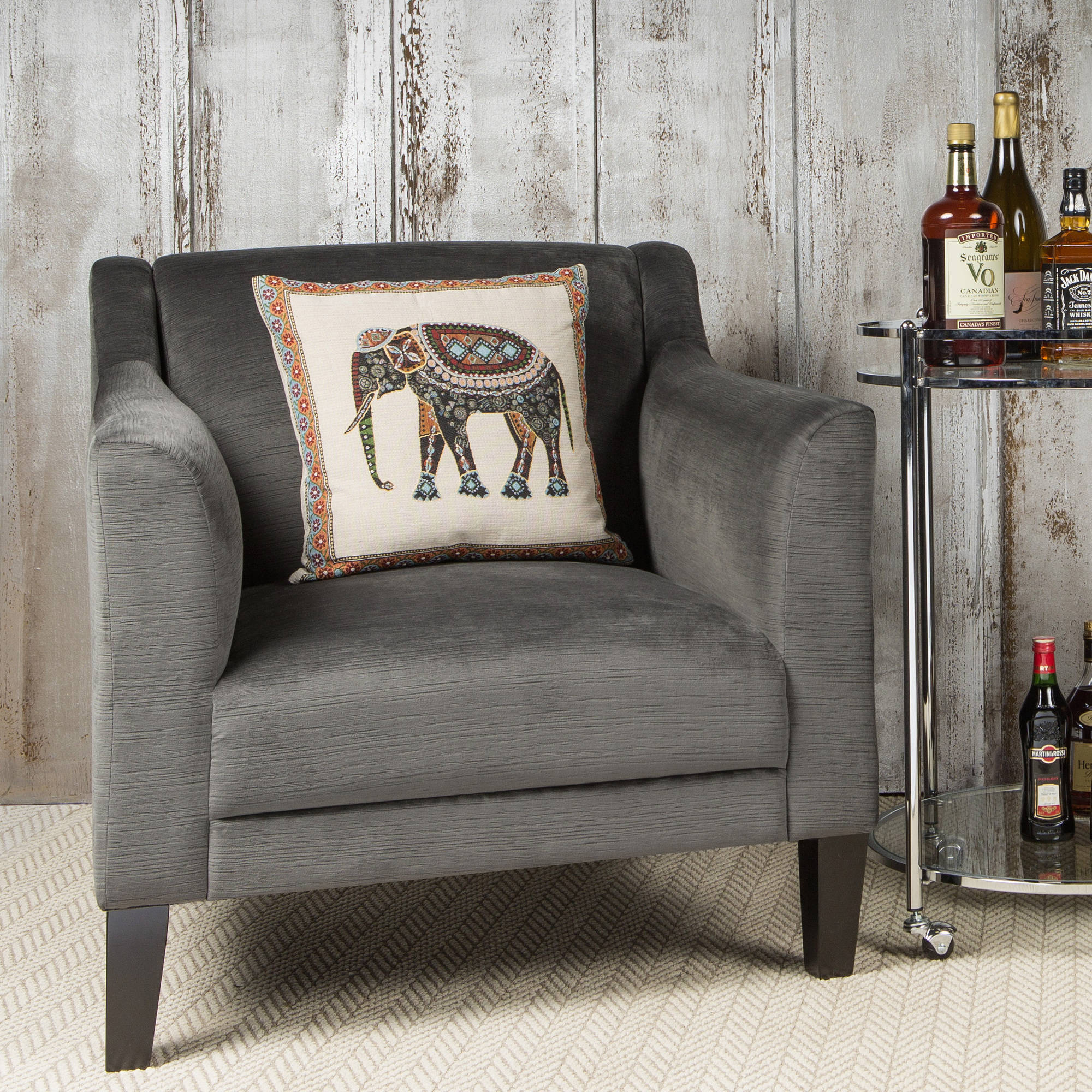Studio Designs Home Grotto Arm Chair, Charcoal and Stone
