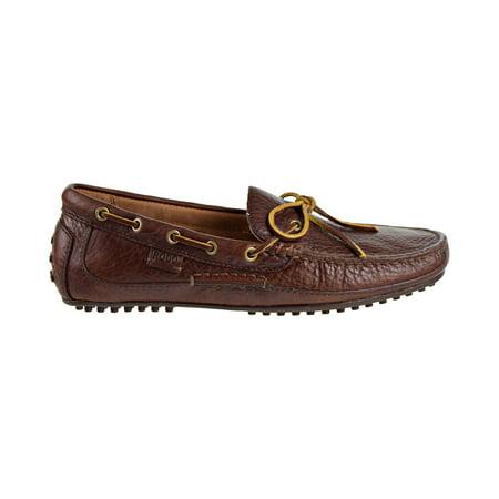 Lauren Loafers - Polo Ralph Lauren Wyndings Slip-On-Driving Men's Loafers Deep Saddle Tan  803665424-003