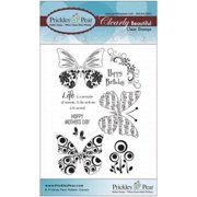 Prickley Pear Rubber Stamp Set-Butterfly 2