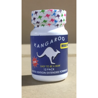 Kangaroo For Him Mega 3000 Blue Bottle 12 Pc