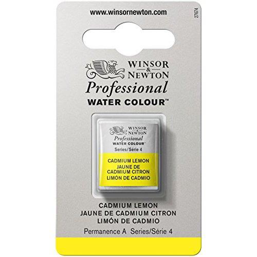 WINSOR & NEWTON / COLART 0101086 PROFESSIONAL WATER COLOUR HALF PAN CADMIUM LEMON