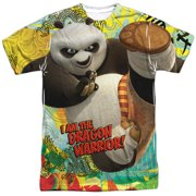 Kung Fu Panda Cartoon Action Movie Po: Dragon Warrior Adult Front Print T-Shirt