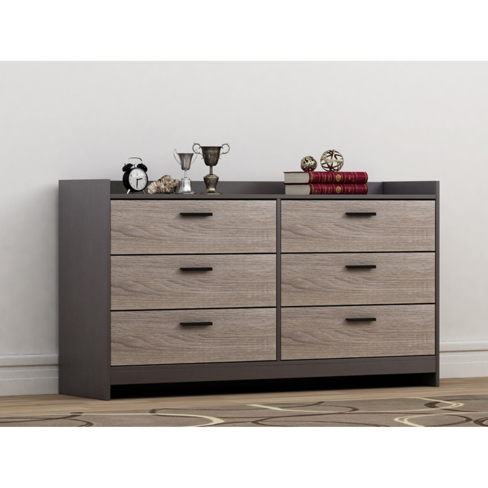 Homestar Central Park 6-Drawer Dresser, Multiple Finish