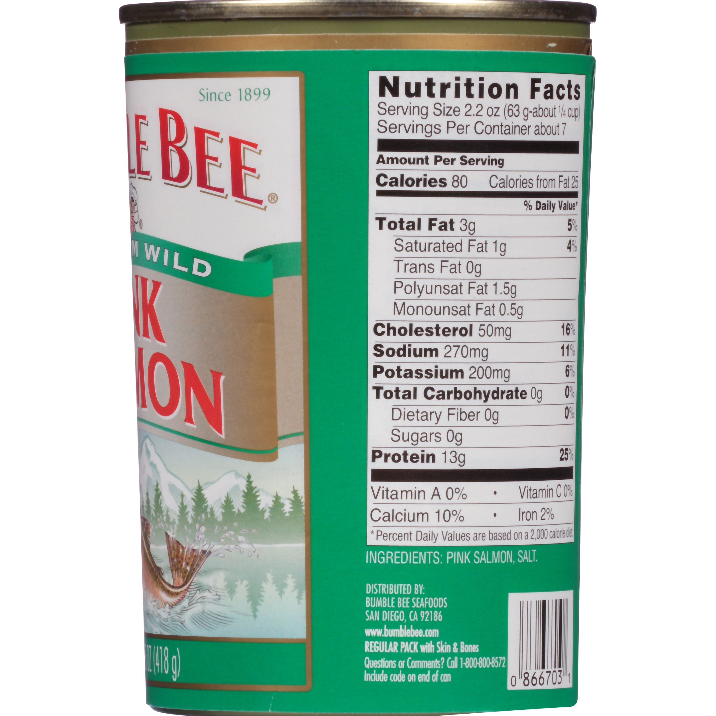 Wild caught pink salmon nutrition facts nutrition ftempo for Salmon fish nutrition