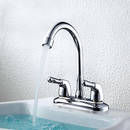 Mohoo Double Hole Water Faucet Cold Hot Water Modern Copper Basin