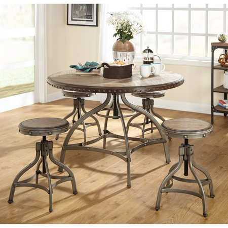 Target Marketing Systems Decker 5 Piece Adjustable Height Dining Table Set