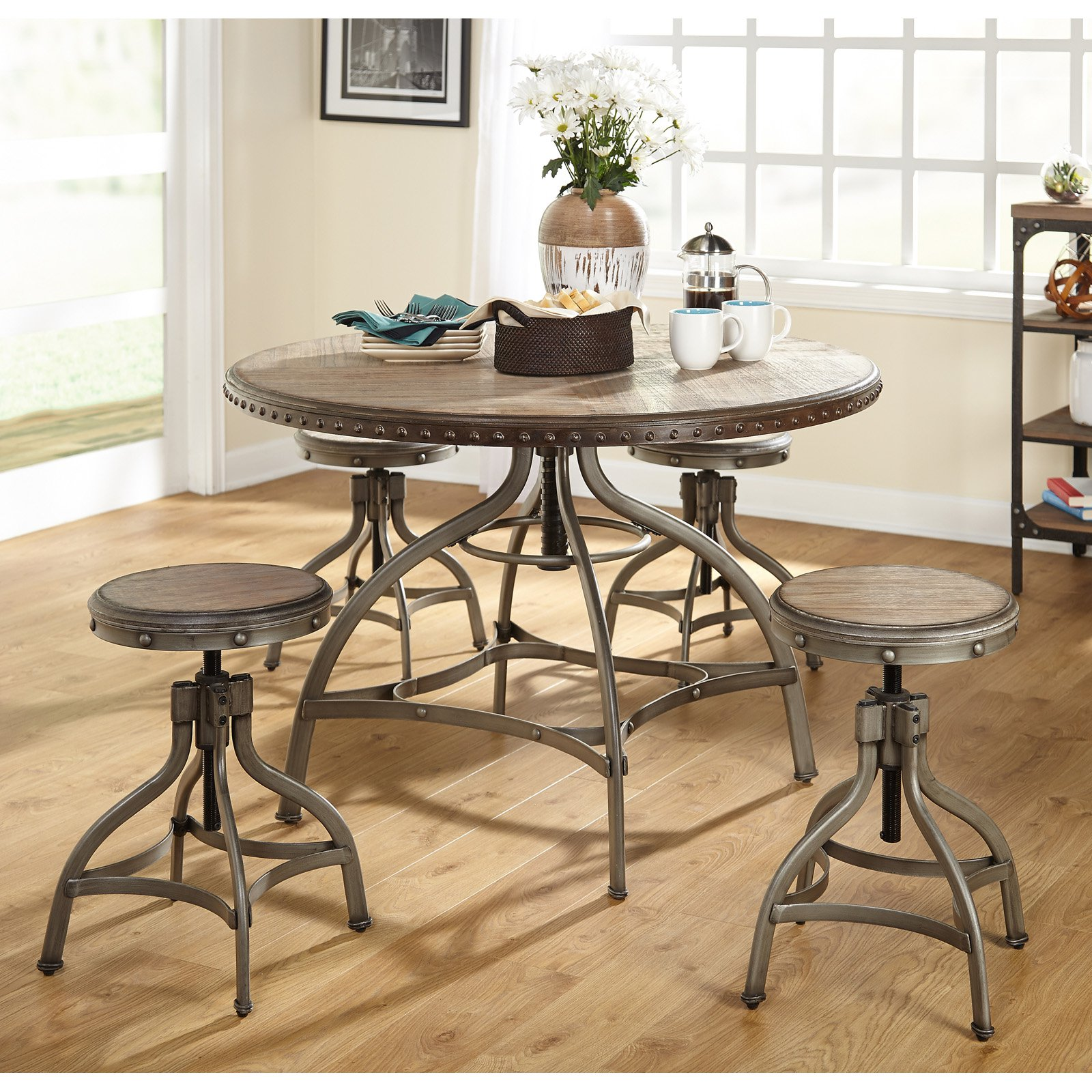 Exceptionnel Target Marketing Systems Decker 5 Piece Adjustable Height Dining Table Set