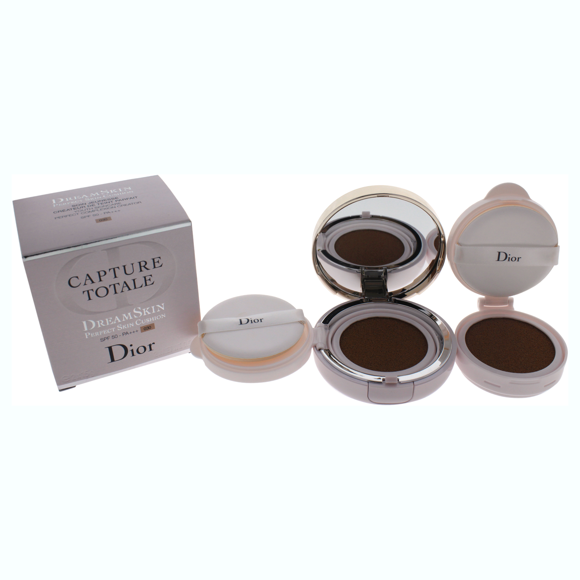 Capture Totale Dreamskin Perfect Skin Cushion Spf 50 030 By Christian Dior For Women 2 X 0 5 Oz Capture Totale Dreamskin And One Refill