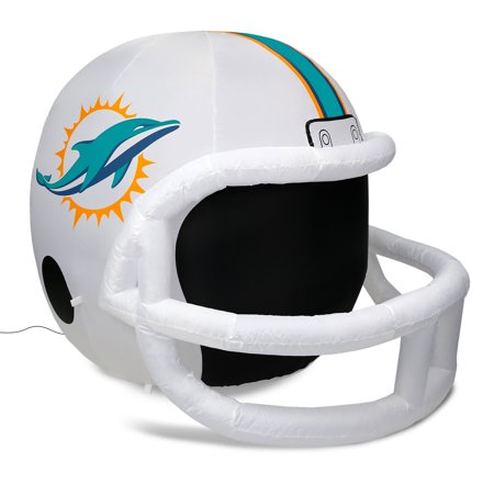 NFL Miami Dolphins Team Inflatable Lawn Helmet, White, One Size - Helmet Inflatable