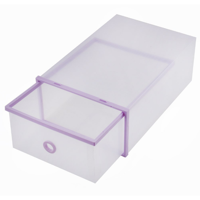 Qillu Qiilu Shoe Storage Boxes Stackable Drawer Style Clear Plastic Shoe Box Closet Storage Organizer Home Storage Boxes Office Organiser