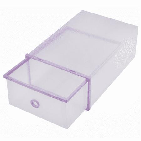 Qillu Qiilu Shoe Storage Boxes Stackable Drawer Style Clear Plastic Shoe Box Closet Storage Organizer Home Storage Boxes Office Organiser