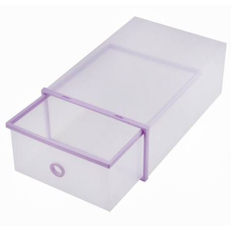 Qillu Qiilu Shoe Storage Boxes Stackable Drawer Style Clear Plastic Shoe Box  Closet Storage Organizer Home