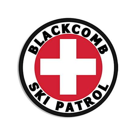 Round BLACKCOMB SKI PATROL Sticker (bc british columbia snow)