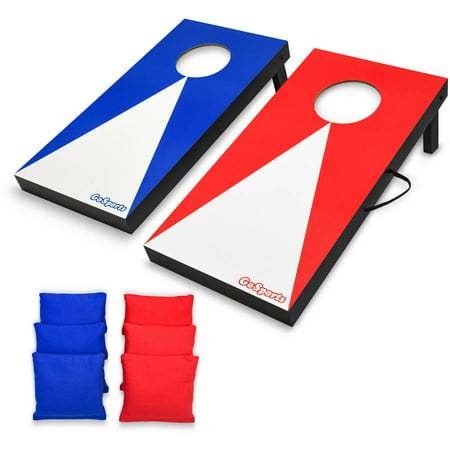 GoSports Junior Size 2'x1' Portable Cornhole Boards Indoor Outdoor Game Set with 6 Bean Bags