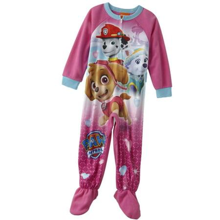 Nickelodeon Toddler Girls Pink Paw Patrol Sleeper Footie Pajamas PJs](Cheap Girls Pjs)