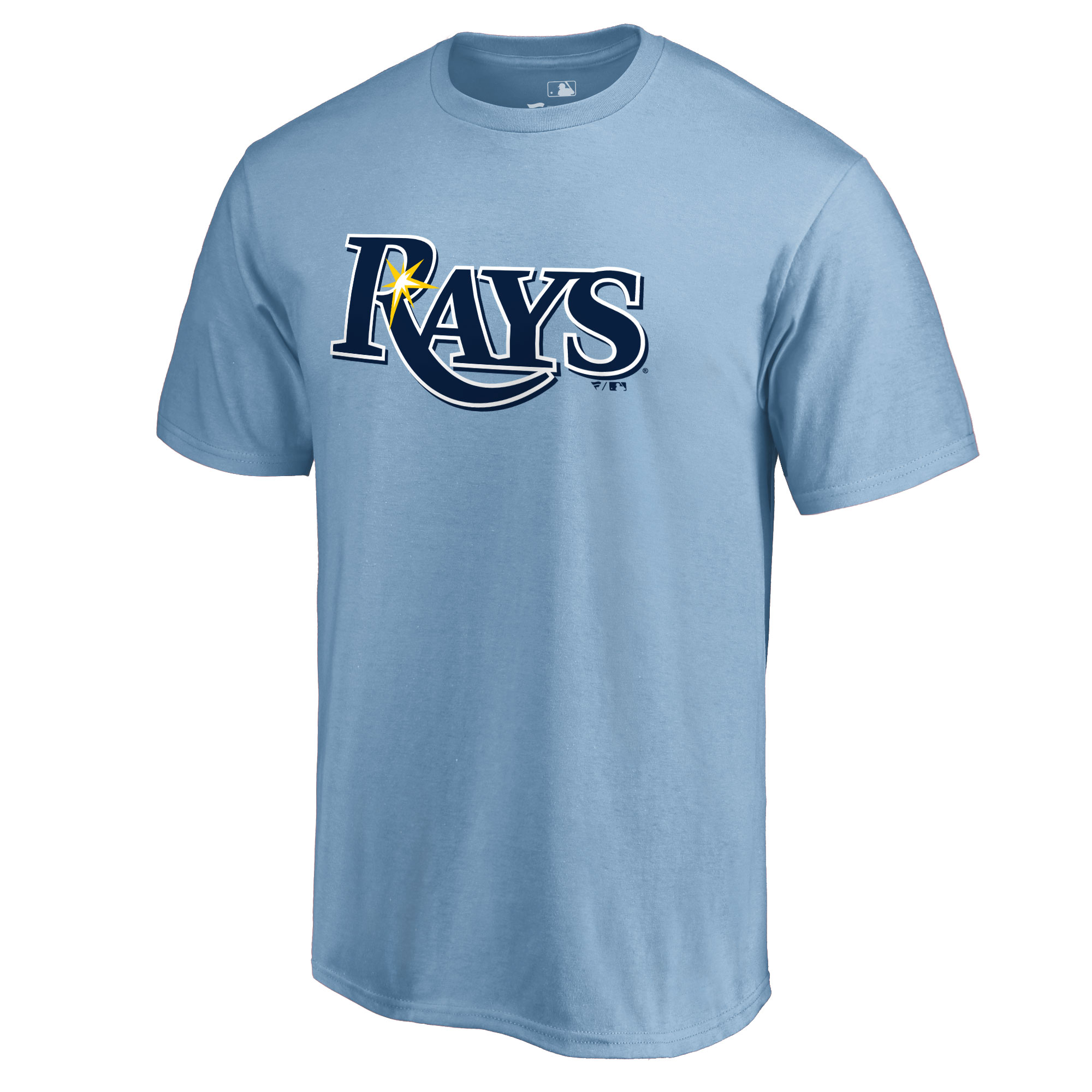 Tampa Bay Rays Secondary Color Primary Logo T-Shirt - Light Blue