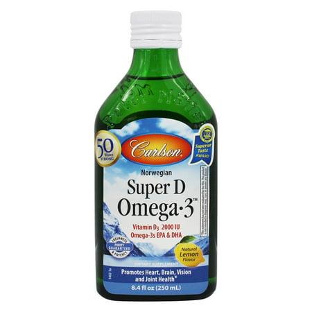 Carlson Labs - Super D Omega-3 Liquid Lemon 2000 IU - 8.4 oz.