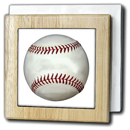 3dRose Baseball, Tile Napkin Holder, 6-inch