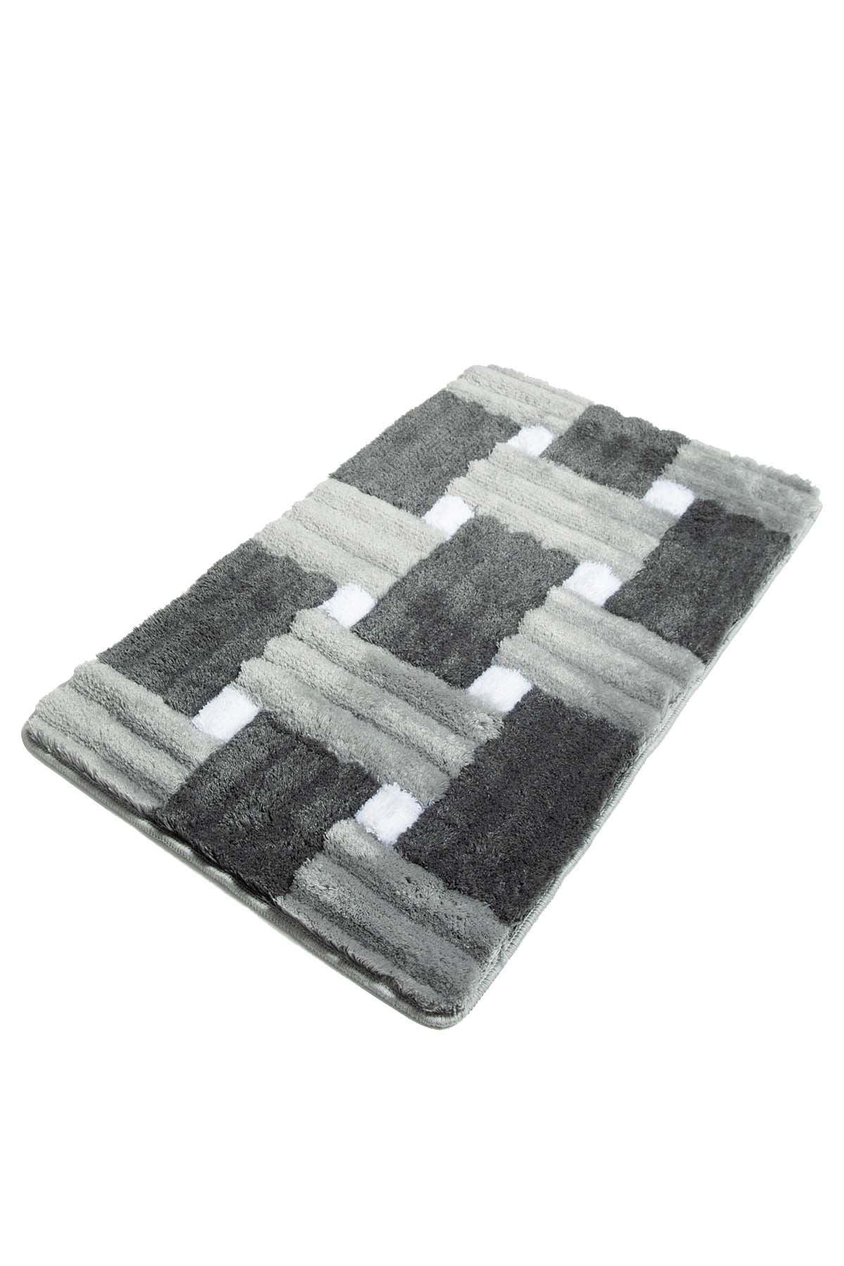 Picture of: Antibacterial Rectangle Non Slip Bath Rug Gray Black White Colors Walmart Com Walmart Com