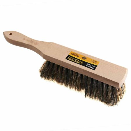 Big Horn 13020 Natural Horsehair Handheld Counter Duster with Wood Handle - 2