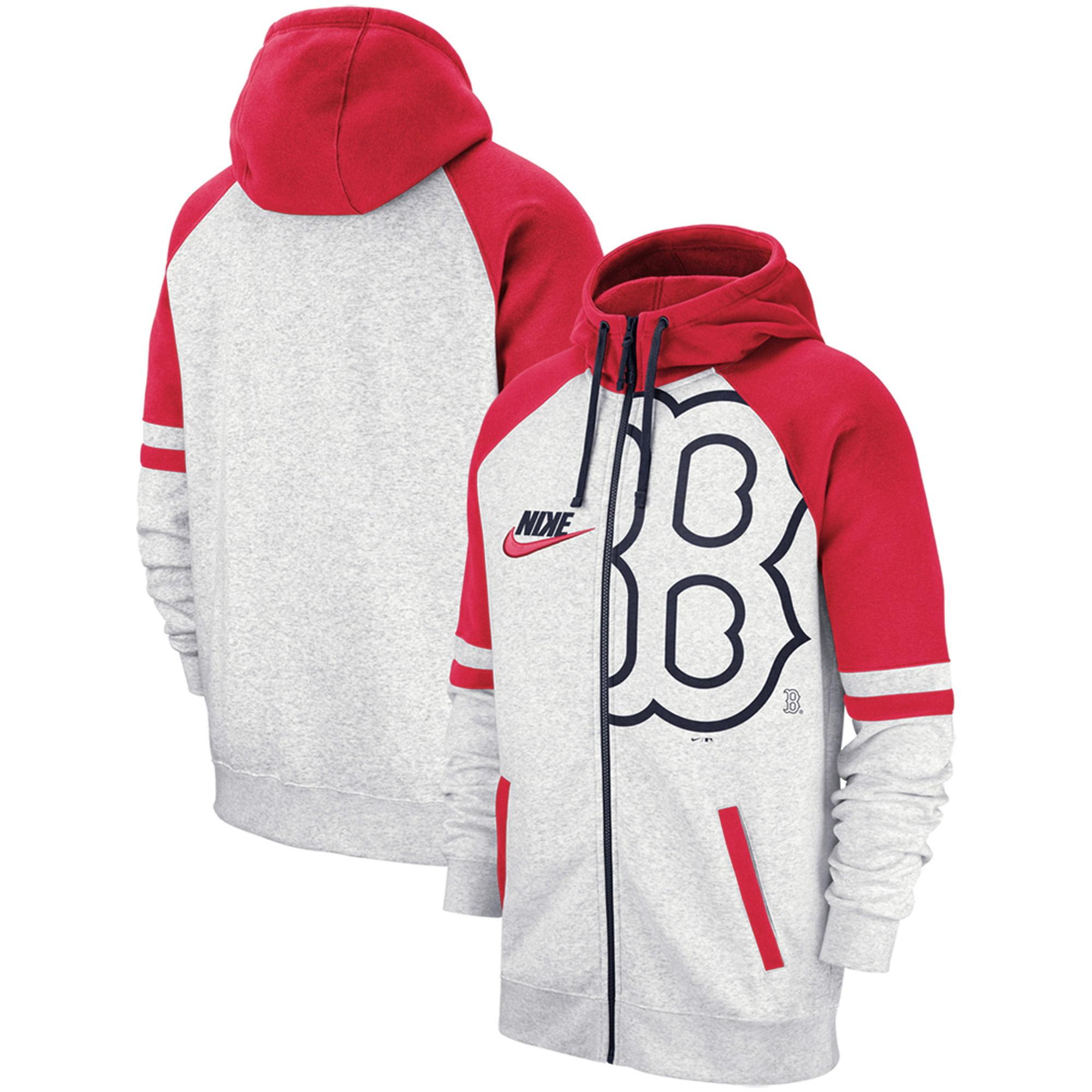 Boston Red Sox Nike Full-Zip Hoodie - Heathered Gray
