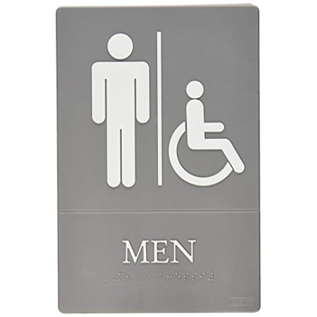 quartet men bathroom sign handicap accessible ada approved 6 x 9 - Mens Bathroom Sign