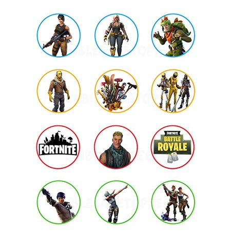 Fornite Battle Royale Edible Cupcake Toppers 12 Images Cake Image Icing Sugar Sheet Strgth