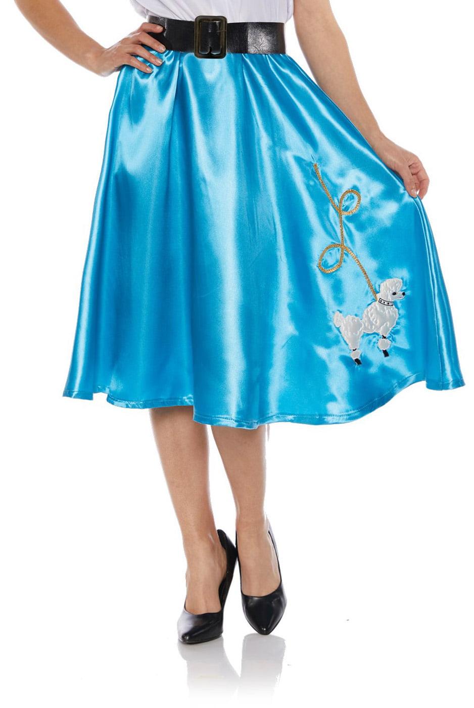 Adult Underwraps Costume White or Pink 50/'s Poodle Shirt Sock Hop