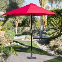Coral Coast Key Largo 9-ft. Spun-Poly Wood Market Umbrella