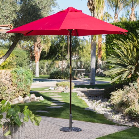 Coral Coast Key Largo 9-ft. Spun-Poly Wood Market Umbrella ()