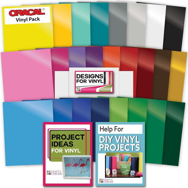 25 Sheets Oracal 651 Permanent Vinyl Transfer Paper Designs