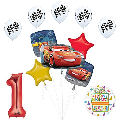 Disney Cars 3 Lighting McQueen 1st Birthday Party Supplies