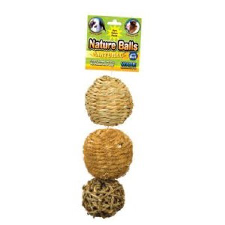 Ware Nature Ball Value Pack Small Animal Toy, 3.5