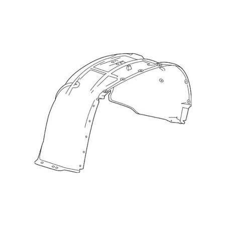 Go-Parts » 2015 GMC Yukon XL Front Fender Liner (Splash