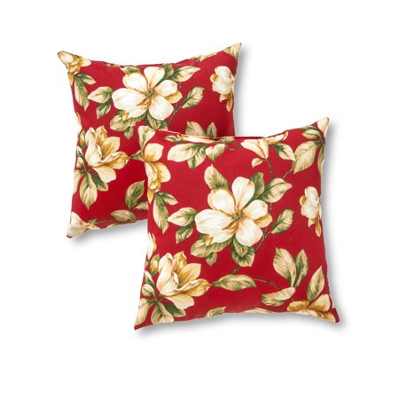 Roma Floral 17 x 17 in. Outdoor Accent Pillow, Set of 2