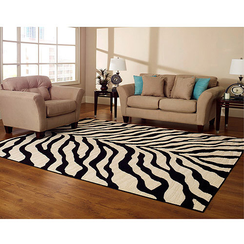 Charming Better Homesu0026gardens Hometrends Zebra 8u0027x10 Rug, .
