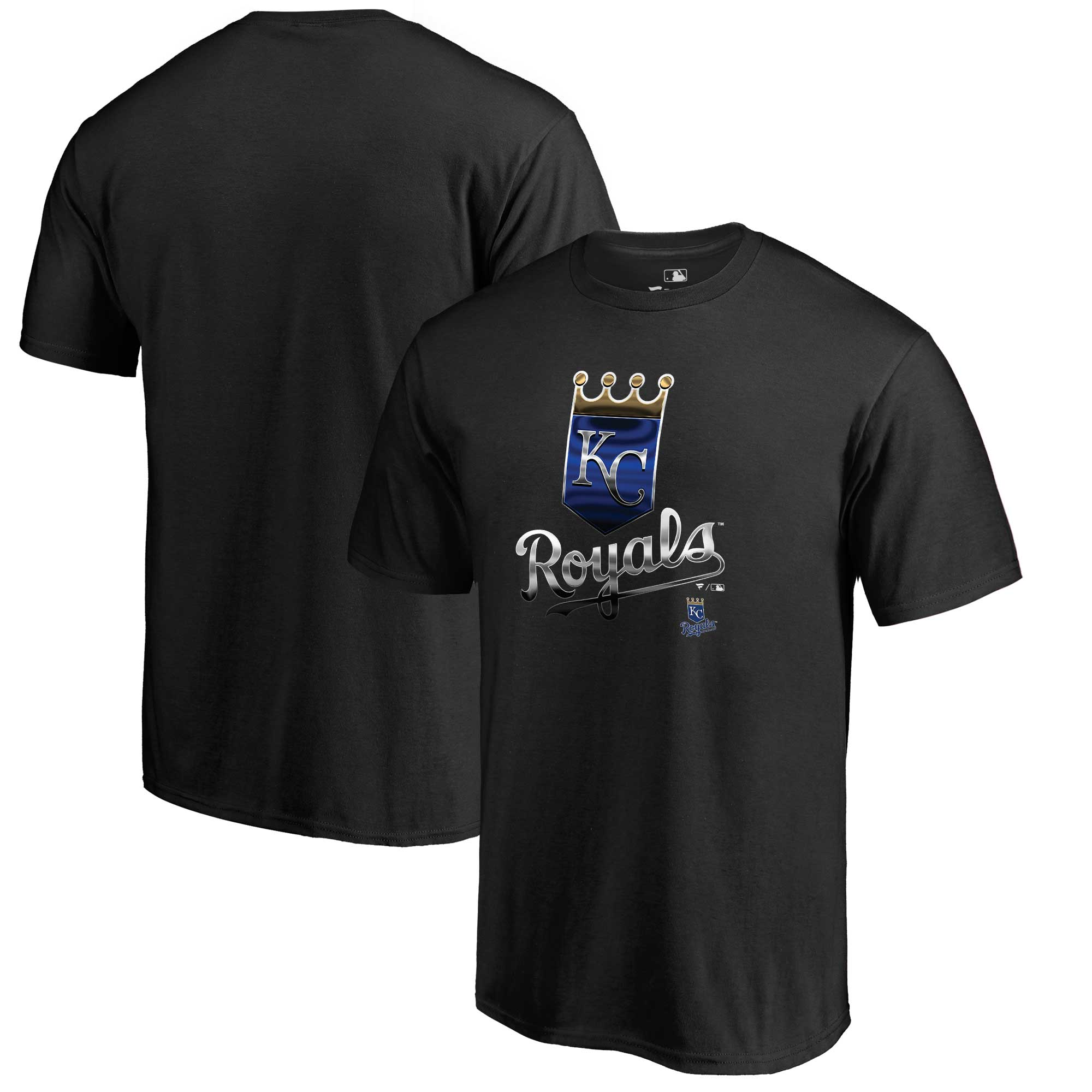 Kansas City Royals Fanatics Branded Midnight Mascot T-Shirt - Black