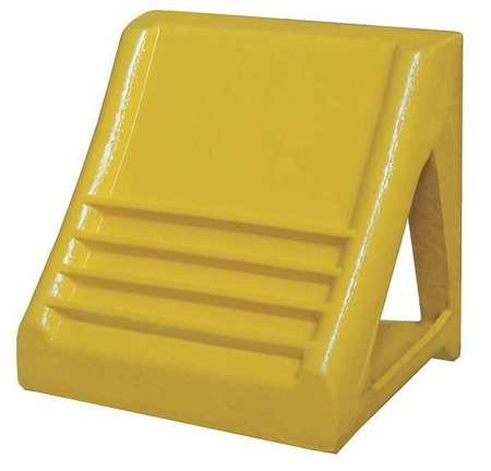 Wheel Chock, Heavy-Duty Steel, Yellow